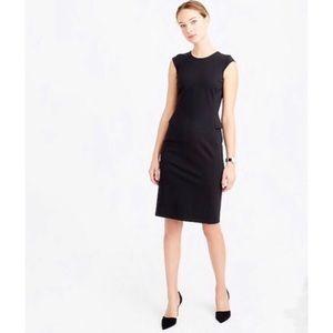 J.CREW 6 Interview Dress Black Ponte